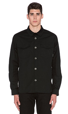 Roland Sands Design Newcombe Overshirt in Black