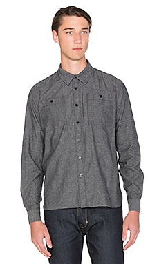 Roland Sands Design Wyatt Button Down in Charcoal