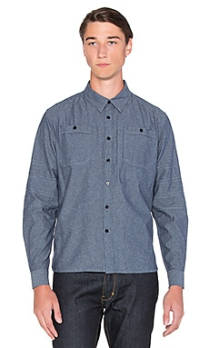 Roland Sands Design Wyatt Button Down in Blue