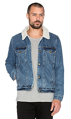 ROLLA'S Denim Sherpa in Stone Blue