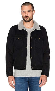 ROLLA'S Denim Sherpa in Faberge Black