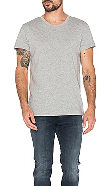 ROLLA'S Coast Tee in Sand Grey Marle