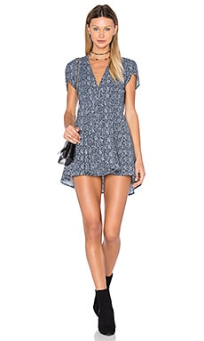 Dancer Wrap Dress in Navy Print