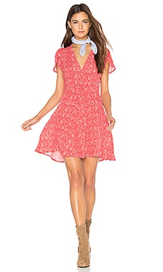 Dancer Wrap Dress in Strawberry Print