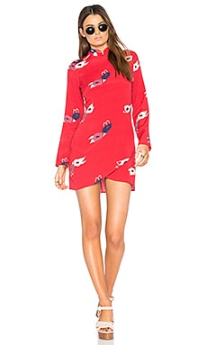 Bones Dress in Red Rose