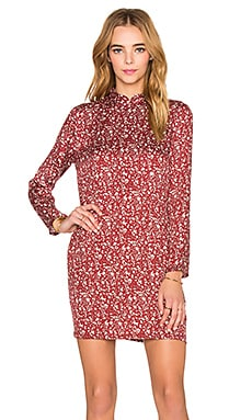 ROLLA'S Eastern Long Sleeve Dress in Red Floral