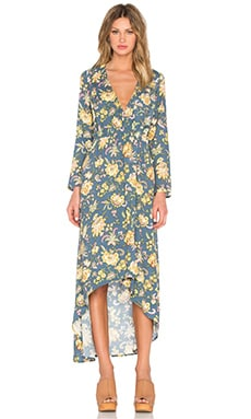 ROLLA'S Camille Wrap Dress in Floral
