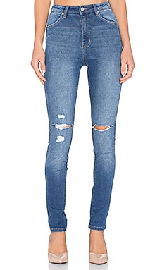 ROLLA'S East Coast Distressed Skinny in Original Blue