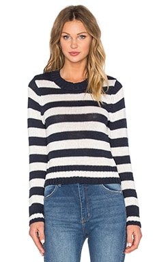 ROLLA'S Rally Sweater in Navy Stripe