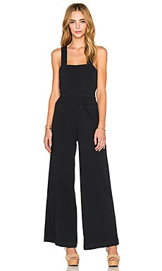 ROLLA'S Sailor Flare Jumpsuit in Navy