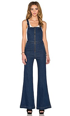 ROLLA'S East Coast Flare Overall in Nicks Blue