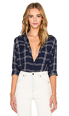 ROLLA'S College Checkered Button Up in Navy