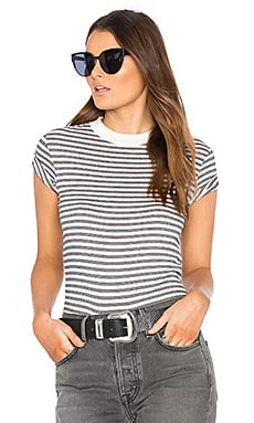 Old Mate Stripe Tee in White