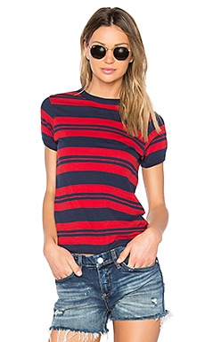 Miller Tee in Red Stripe