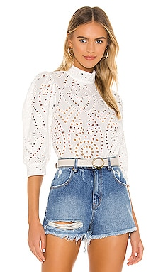 X Sofia Richie Stephanie Lace Blouse ROLLA'S $99 BEST SELLER