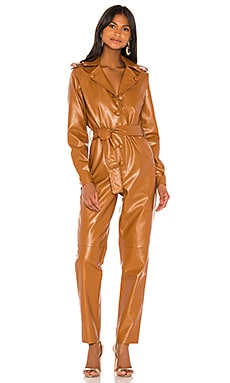 Lara Faux Leather Jumpsuit Ronny Kobo $498