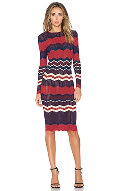 Ronny Kobo Shakira Midi Dress in Bordeaux