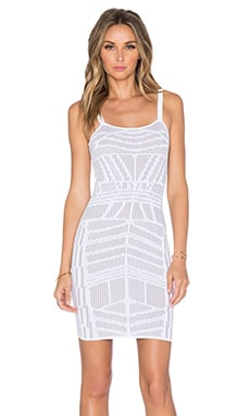 Ronny Kobo Latonya Dress in White & French Grey