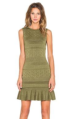 Ronny Kobo Portia Ruffle Dress in Olive