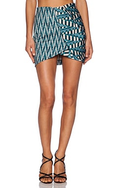 Ronny Kobo Lilo Skirt in Aqua Multi