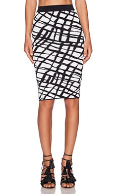 Ronny Kobo Eshana Skirt in Black & White
