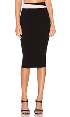 Ronny Kobo Evie Skirt in Black & Quartz