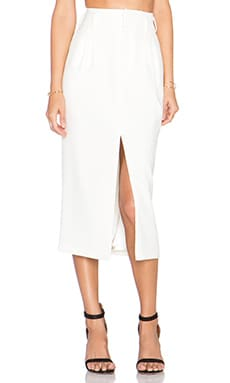 Ronny Kobo Korin Skirt in White