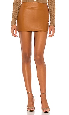 Abela Faux Leather Skirt Ronny Kobo $155