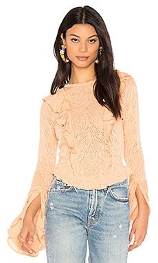 Yasamin Top in Peach