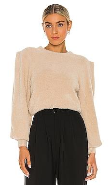 Carina Fuzzy Knit Top Ronny Kobo $298 NEW
