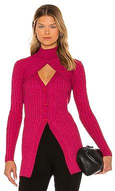Garner Knit Top Ronny Kobo $368 NOUVEAU