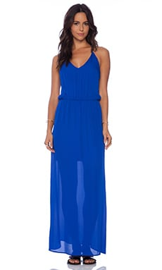 Rory Beca Ellie Deep V-Neck Gown in Royal