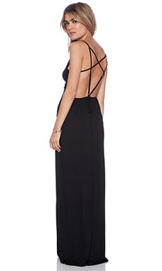 Rory Beca Jodie Multi Strap Gown in Onyx