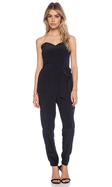 Rory Beca Bonnie Strapless Jumpsuit in Onyx