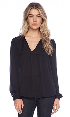 Rory Beca Augie Babydoll Blouse in Onyx