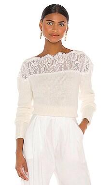 Lace Shoulder Sweater RAISSA $275 BEST SELLER