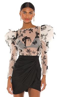 Applique Butterfly Blouse RAISSA $275