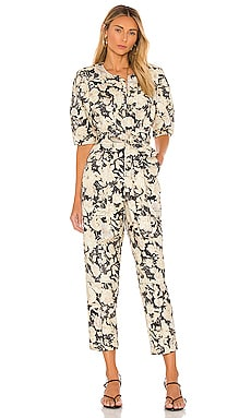 Short Sleeve Gold Leaf Jumpsuit Rebecca Taylor $233