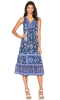 Rebecca Taylor Sleeveless Dreamweaver Maxi Dress in Indigo Combo