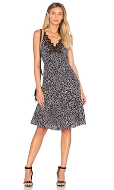 Rebecca Taylor Sleeveless Pop Flower Slip Dress in Black Combo