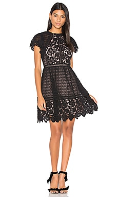 Lace Mix Dress en Noir