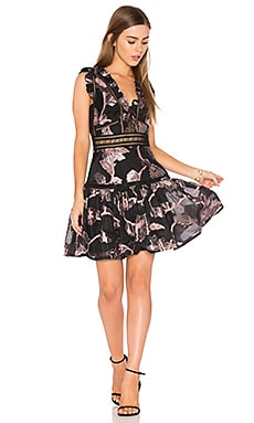Sleeveless Metallic Dress in Black & Camellia