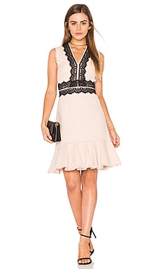 Sleeveless Tweed Lace Dress en Rose Ballerine