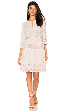 Long Sleeve Adeline Embroidered Dress in Rosebud