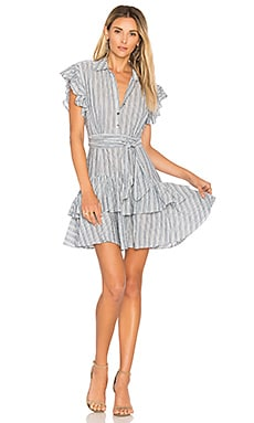 Stripe Dress in Blue & Milk