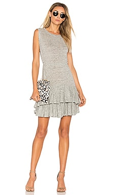 Ruffle Mini Dress in Grey Melange