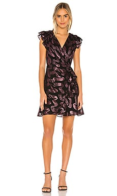 Faux Wrap Sleeveless Lurex Jacquard Dress Rebecca Taylor $595