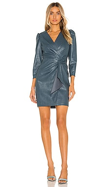 Long Sleeve Vegan Leather Dress Rebecca Taylor $144