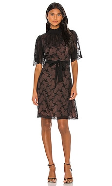 Short Sleeve Vine Embroidery Dress Rebecca Taylor $228
