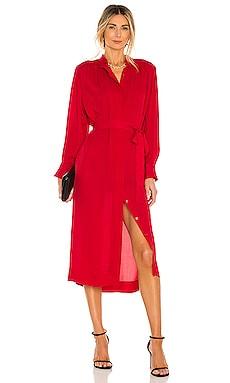 Long Sleeve Georgette Dress Rebecca Taylor $365 NEW